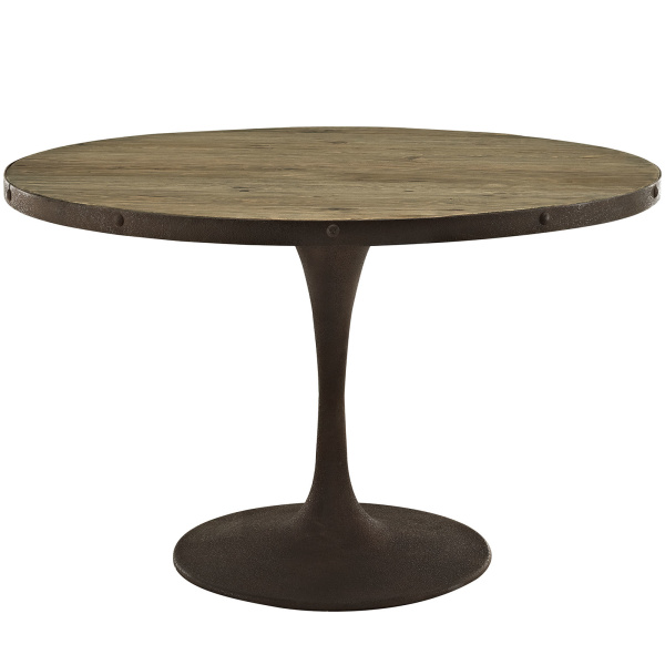 "Drive 48"" Round Wood Top Dining Table Brown"
