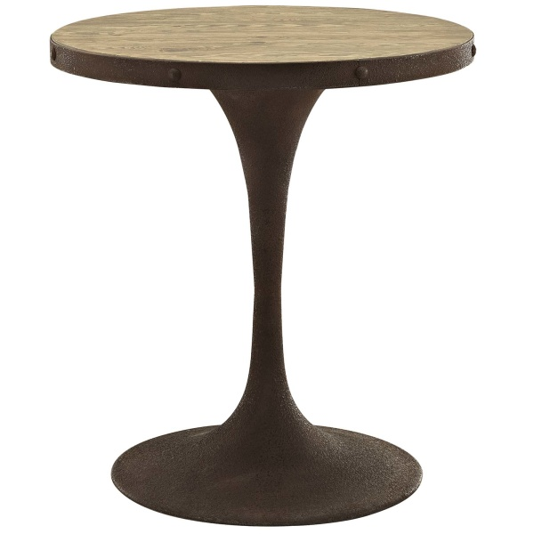 "Drive 28"" Round Wood Top Dining Table Brown"
