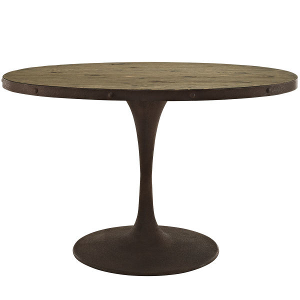 "Drive 47"" Oval Wood Top Dining Table Brown"