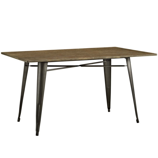 "Alacrity 59"" Rectangle Wood Dining Table Brown"