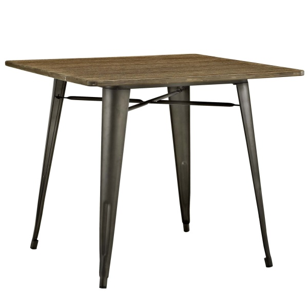 "Alacrity 36"" Square Wood Dining Table Brown"