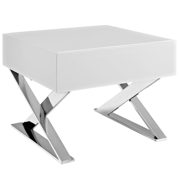 EEI-2049-WHI-SET Sector Nightstand White