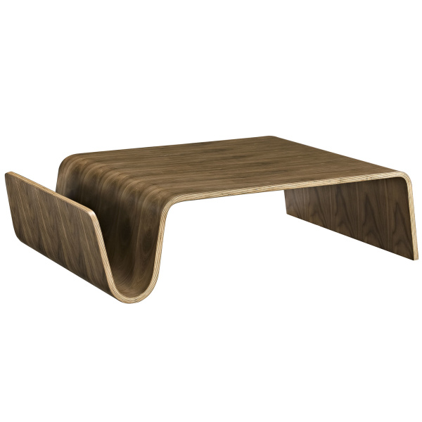 Polaris Wood Coffee Table Walnut