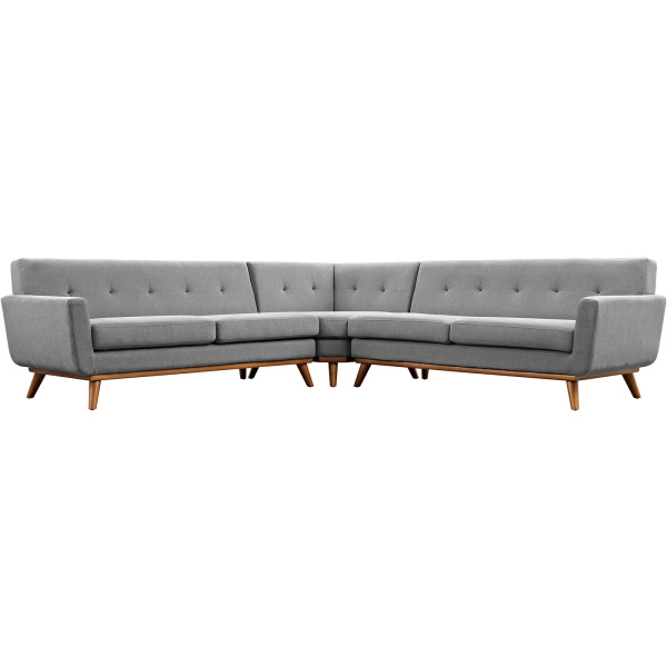 Engage L-Shaped Sectional Sofa Expectation Gray