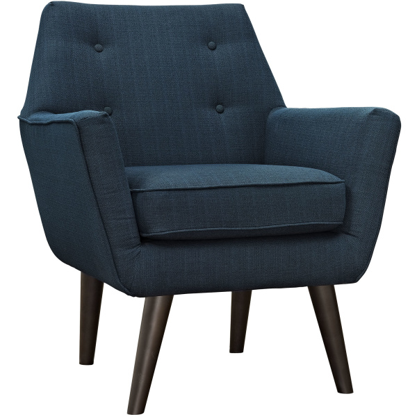 Posit Upholstered Fabric Armchair Azure