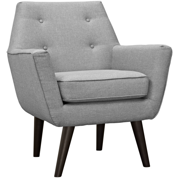 EEI-2136-LGR Posit Upholstered Fabric Armchair Light Gray