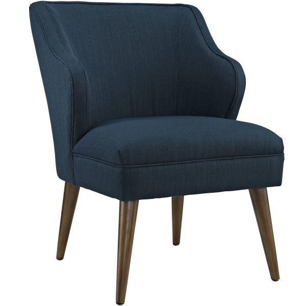 Swell Upholstered Fabric Armchair Azure