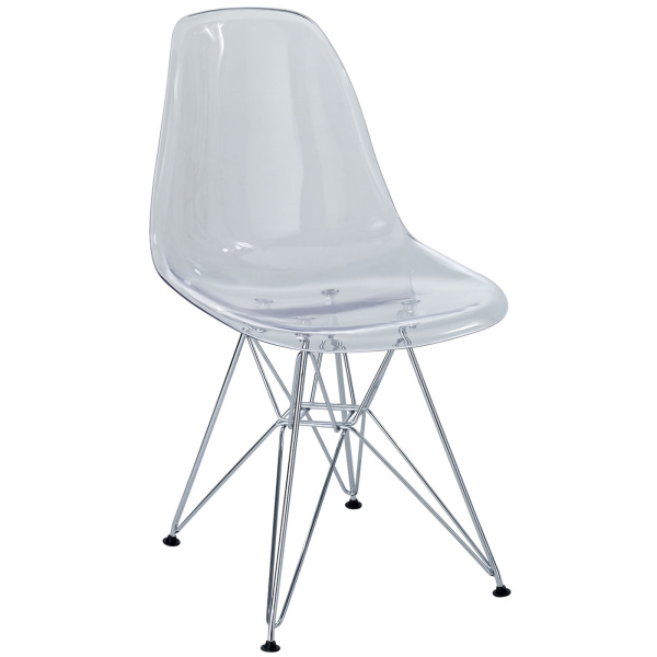 Paris Dining Side Chair Clear