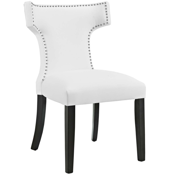 Curve Vinyl Dining Chair White