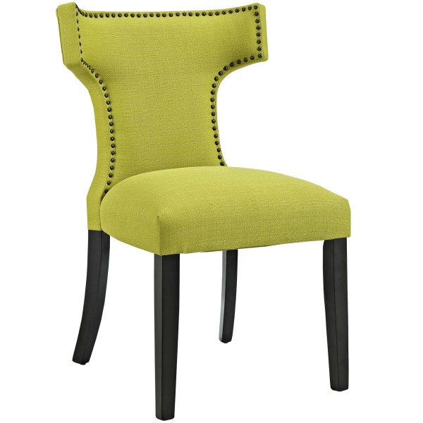 Curve Fabric Dining Chair Wheatgrass