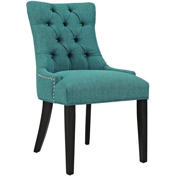 Regent Fabric Dining Chair Teal