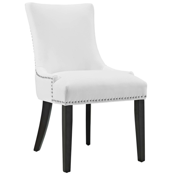 Marquis Faux Leather Dining Chair White