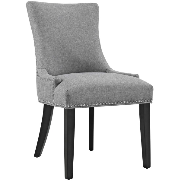 Marquis Fabric Dining Chair Light Gray