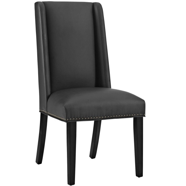 Baron Vinyl Dining Chair Black