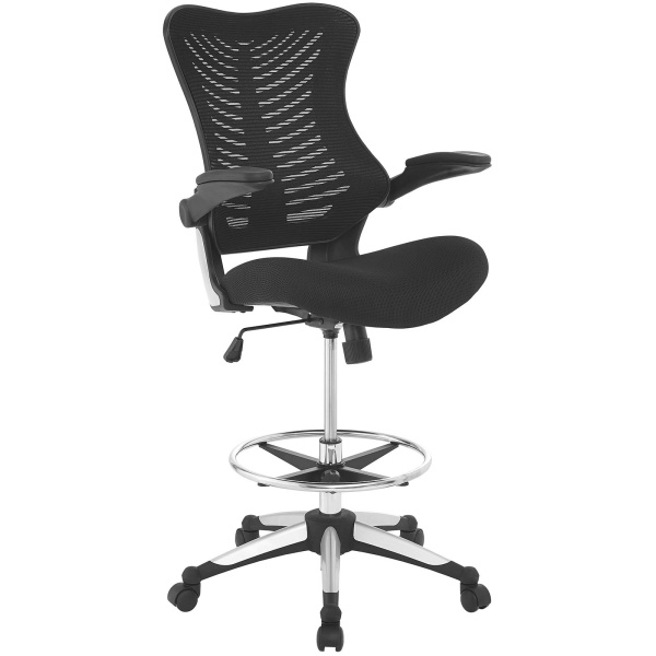 EEI-2286-BLK Charge Drafting Chair Black