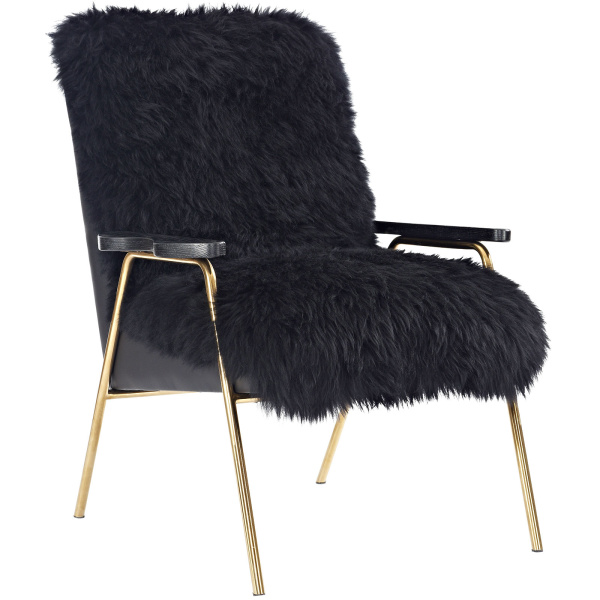 Sprint Sheepskin Armchair Black Black