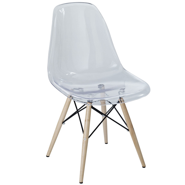 Pyramid Dining Side Chair Clear
