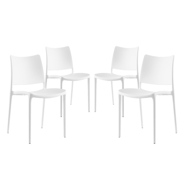 Hipster Dining Side Chair Set of 4 White