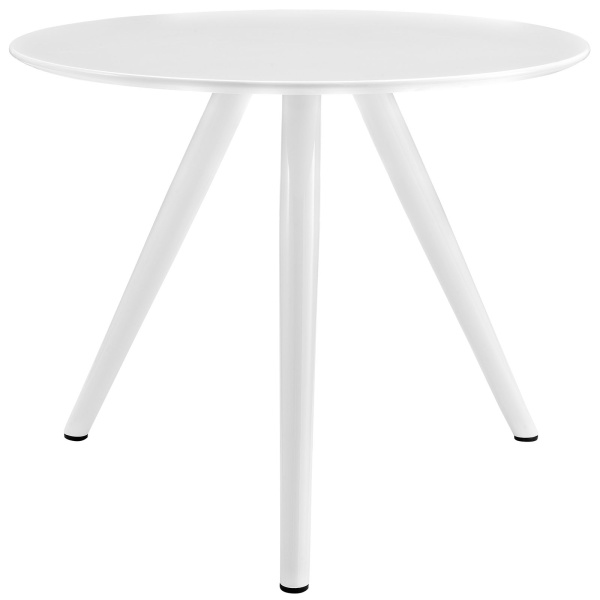 "Lippa 36"" Round Wood Top Dining Table with Tripod Base White"