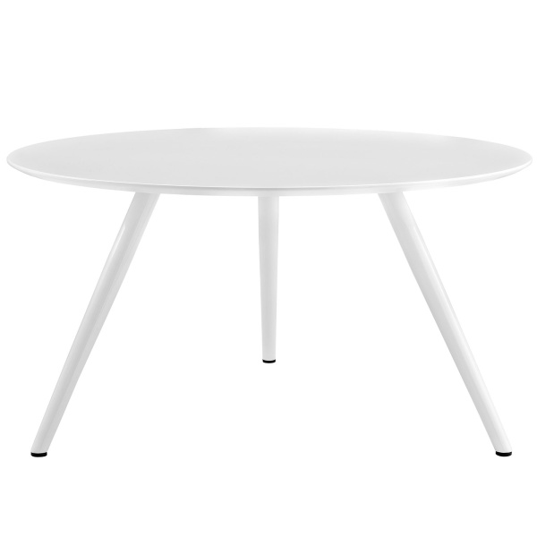 "Lippa 54"" Round Wood Top Dining Table with Tripod Base White"