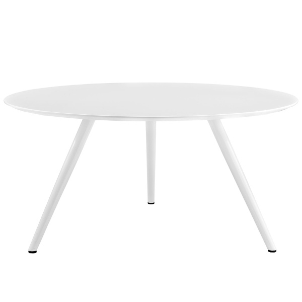 "Lippa 60"" Round Wood Top Dining Table with Tripod Base White"