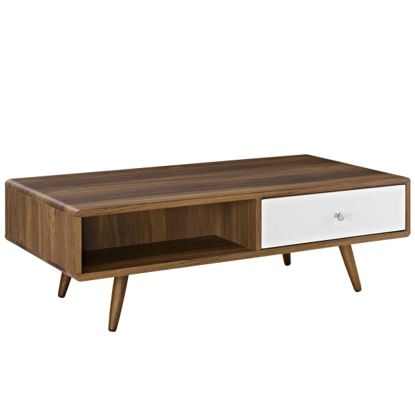 EEI-2528-WAL-WHI Transmit Coffee Table