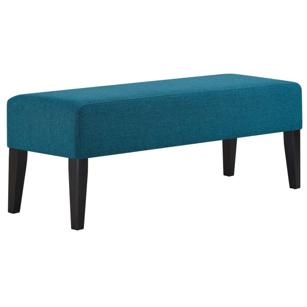 Connect Upholstered Fabric Bench Teal