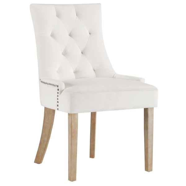 Pose Performance Velvet Dining Chair Ivory