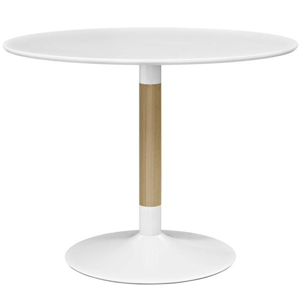 Whirl Round Dining Table White