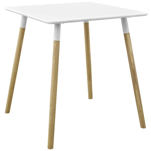 "Continuum 28"" Square Dining Table White"