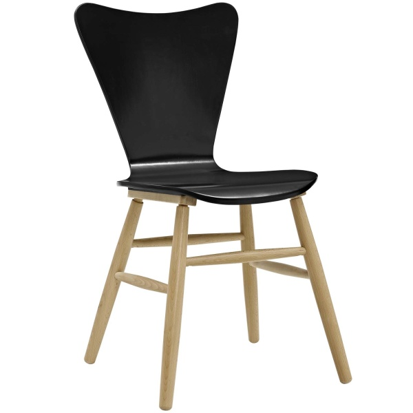 Cascade Wood Dining Chair Black