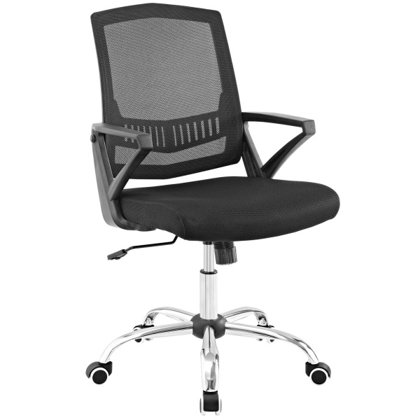 Proceed Mid Back Upholstered Fabric Office Chair Black