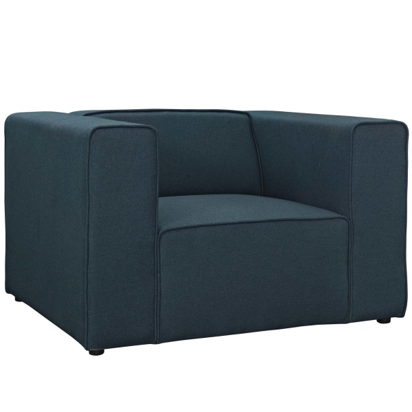 EEI-2718-BLU Mingle Upholstered Fabric Armchair Blue