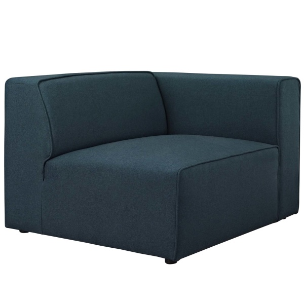 Mingle Fabric Right-Facing Sofa Blue