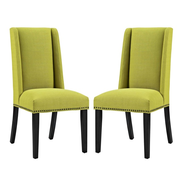 Baron Dining Chair Fabric Set of 2 Wheatgrass