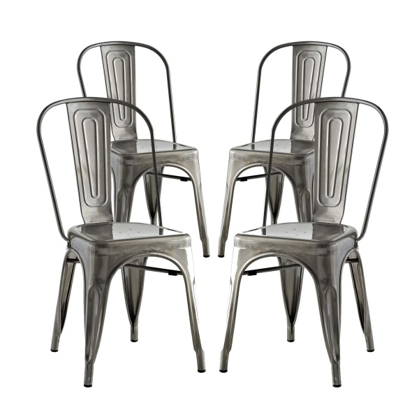 EEI-2750-GME-SET Promenade Dining Side Chair Set of 4
