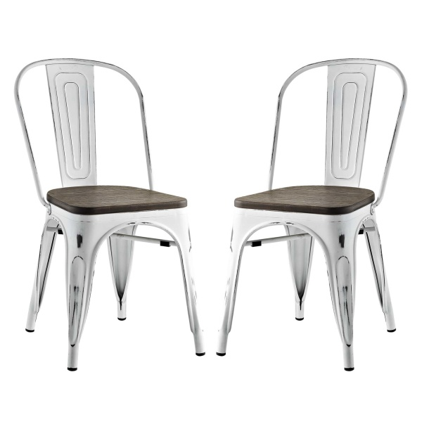 EEI-2751-WHI-SET Promenade Dining Side Chair Set of 2 White