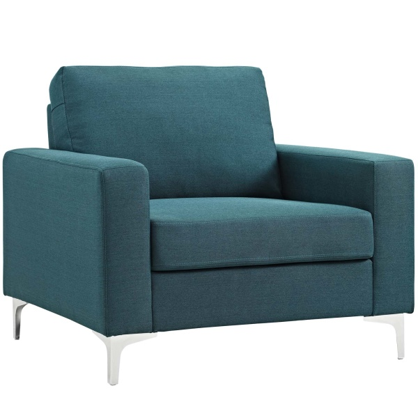 Allure Upholstered Armchair Blue