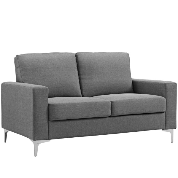 EEI-2777-GRY Allure Upholstered Sofa Gray