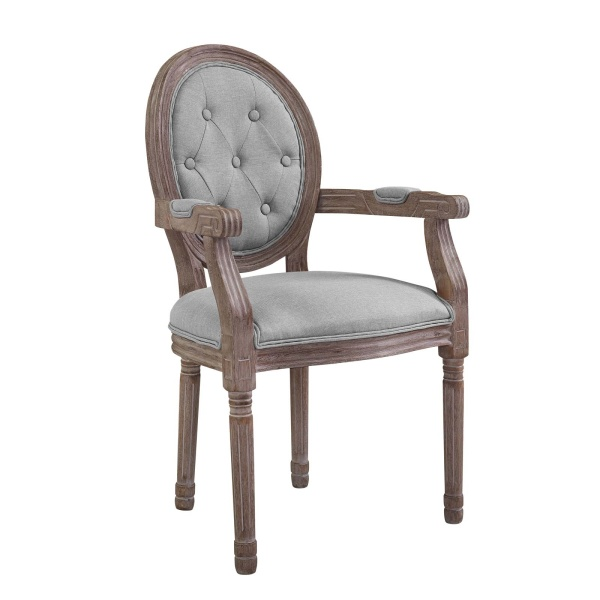 Arise Vintage French Dining Armchair Light Gray