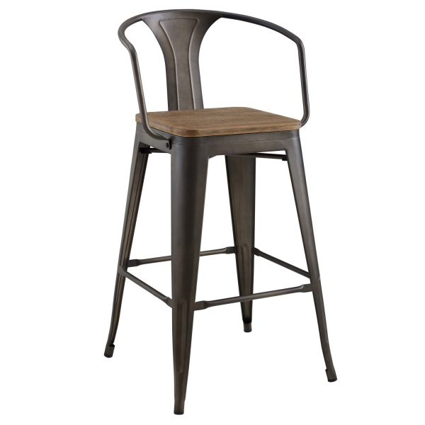 Promenade Bar Stool Brown