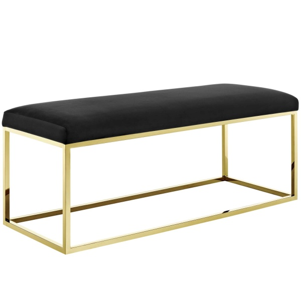 EEI-2851-GLD-BLK Anticipate Fabric Bench Gold Black