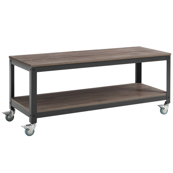 Vivify Tiered Serving or TV Stand Gray Walnut