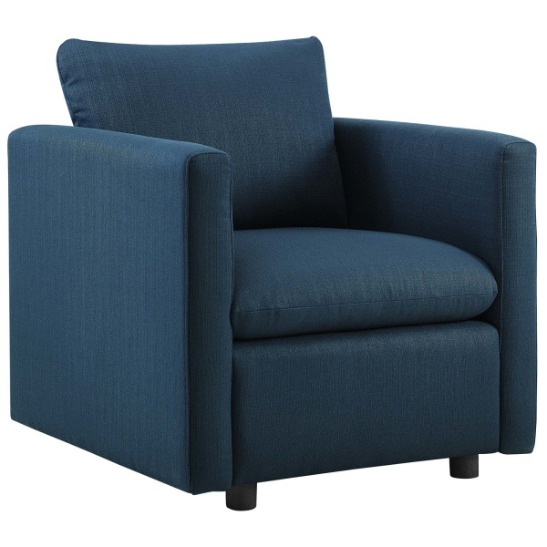 Activate Upholstered Fabric Armchair Azure
