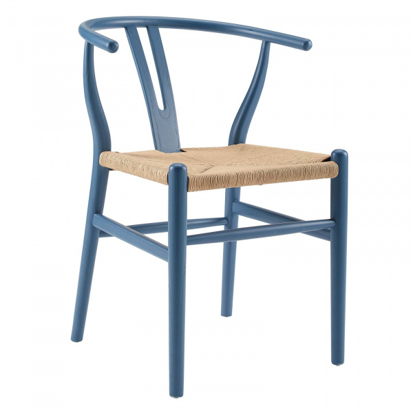 EEI-3047-HAR Amish Dining Wood Side Chair Harbor