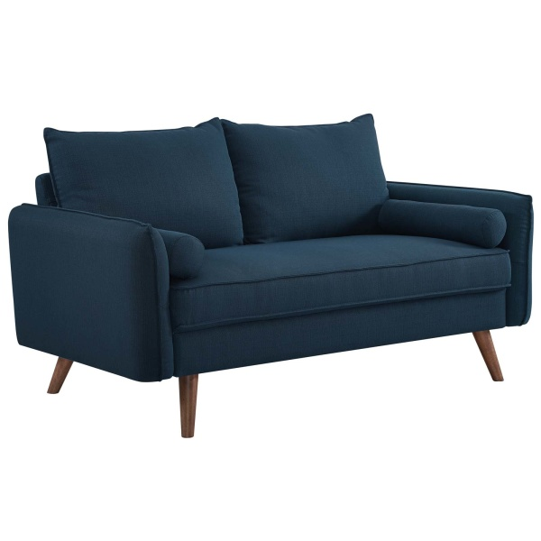 Revive Upholstered Fabric Loveseat Azure