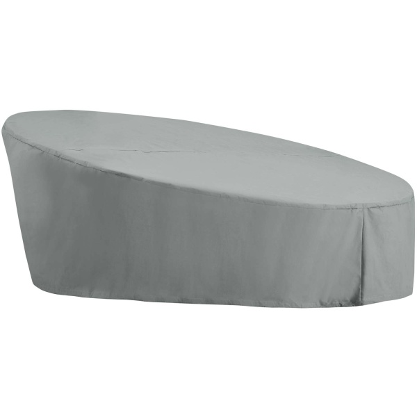 EEI-3135-GRY Immerse Convene / Sojourn / Summon Daybed Outdoor Patio Furniture Cover Gray