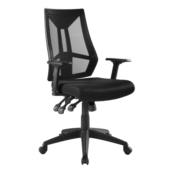 Extol Mesh Office Chair Black