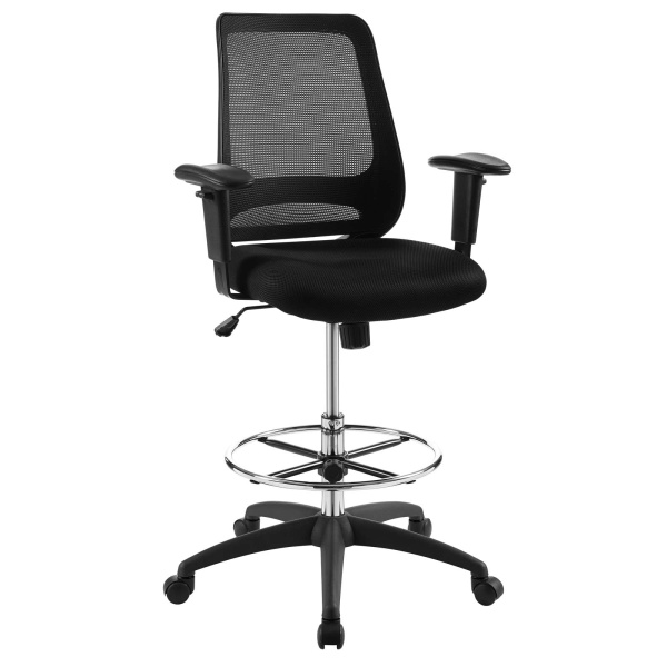 EEI-3196-BLK Forge Mesh Drafting Chair Black