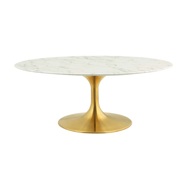 "Lippa 42"" Oval-Shaped Artifical Coffee Table"